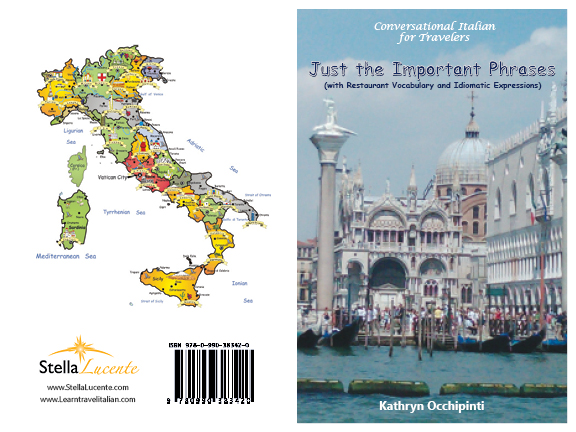 Conversational Italian pocket travel book with important Italian phrases
